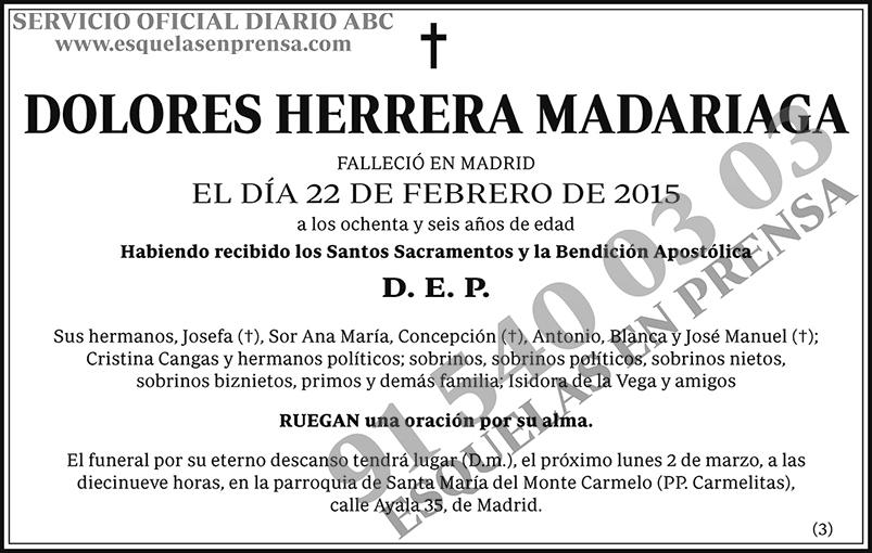 Dolores Herrera Madariaga